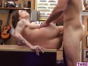 Curvy chick Harlow gets her wet pussy slammed hard