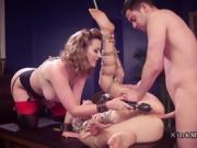 Blonde slave anal banged in threesome bdsm