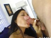 Lusty darling is being pounded wildly from behind