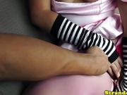 Costumed pickedup teen pov doggystyle after bj in carsex
