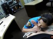 Busty police officer drilled by pawn man