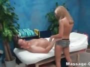Masseur tiny blonde riding cock