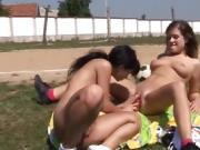 Teen couple outdoor hd xxx Sporty teens licking each other