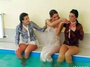 Boxing girls wet look XXX play