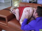 Johnny got his big cock suck deep throat by Zoey Monroe