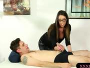 Huge boobs masseuse fucked by nasty man after massage