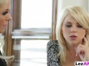 Blonde lesbians corrupt virgin assholes