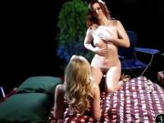 Two sultry women enjoyed body massage