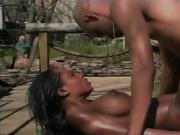 The ebony babes in this scene have awesome tits and asses