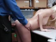 LP Officer plowing Riley Stars pussy sideway