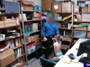 Shoplifter gets pounded by LP officer in the back office