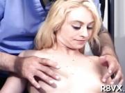 Cutie gets her pussy titillated