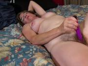 USAwives Solo Mature is Playing with Hairy Pussy