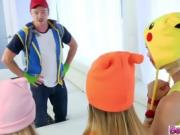 Sexy and pretty Pokemon teens gets fucked hard