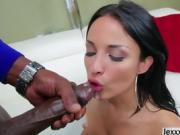 Sexy Anissa Kate takes huge black cock up her ass
