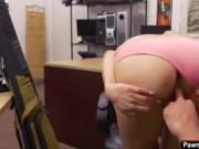 Samantha gets fucked in the pawnshop