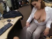 Big boobs woman gets nailed by pawn dude