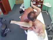 Doctor spunked milf pussy hole