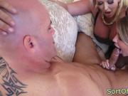 Bigtitted mature stepmom barges in on couple