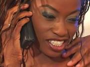 Stunning ebony beauty enjoys a hardcore anal fuck