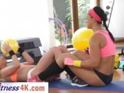 Workout session leads to hot lesbian sex