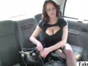 Stunning woman railed in the backseat for a free fare