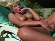 Gorgeous blonde pleasures herself while you watch