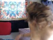 hippie teen masturbation on webcam