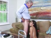 Sexy blonde fucks old man Poping Pils!