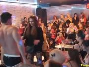 Sexy Wives & Teens At CFNM Strip Party Get Down & Dirty