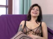 Viktoria G Foot Fetish Interview in stockings and lingerie