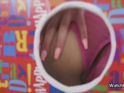 Gloryhole anal surprise with ebony teen gf