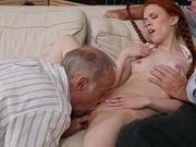 Teen Ginger Dolly Little Gets Her Pussy Eaten