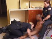 Real boobs milf and blonde seduces Black Male squatting in ho