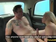 Public cabbie babe pussypounded on backseat
