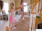 Amateur Alice and Angel in threesome act