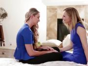 Allie Eve is pussy licked by her stepmom