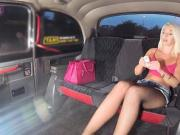 Rich teen Lovita Fate pays the taxi driver cash to striptease
