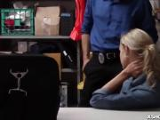 Shoplifter got a mouthful of big cock