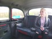 Russian blonde teen fucks the horny taxi driver for fare