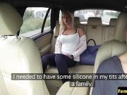 Lesbian cabbie scissoring passenger in taxi