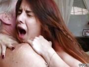 Big natural tits teen fucks old man and lady sucking cock Max