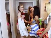 Slut skinny college teens enjoyed in a spring break