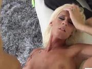 Pervert stepmom gets her tight pussy banged