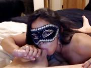 masked babe glorious blowjob swallow