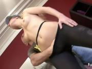 Spicy model stretches her slit and loves hardcore sex