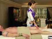 Hot Jayden Lee sucks dick after massage