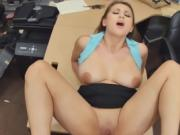 Busty Blonde Ivy Rose Getting Slammed On Pawn Shop Desk
