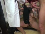 Doctor and Helper Seduce Redhead German Teen to Fuck