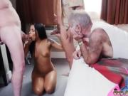 Jada fire blowjob and big ass latina Staycation with a Latin